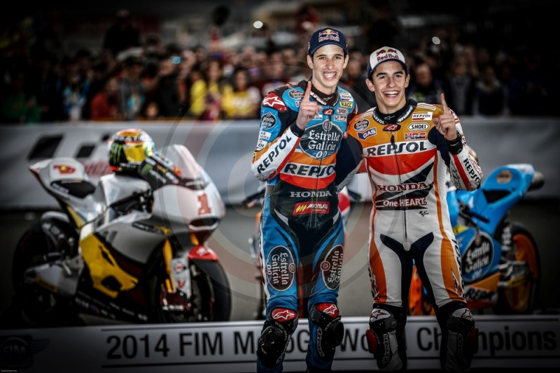 MOTO GP VALENCIA 2014 MARQUEZ BROTHERS